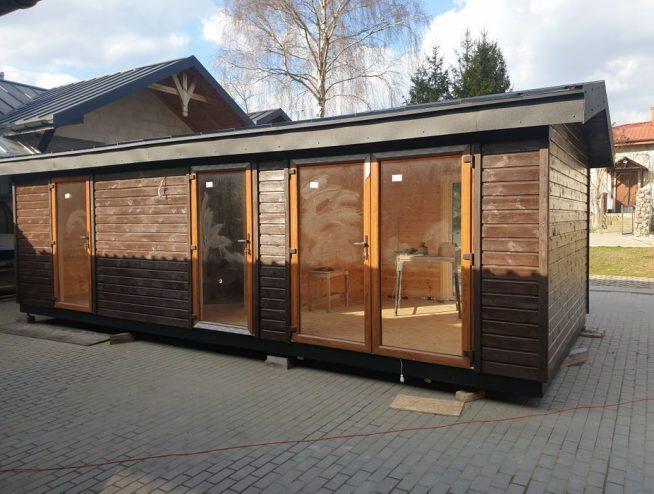 domek mobilny na konstrukcji stalowej - producent Manufaktura Drewno Stal