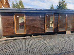 mobilny domek drewniany