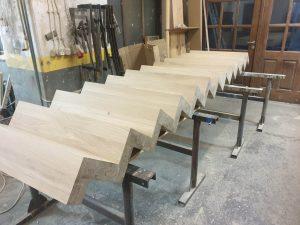 drewniane schody - produkcja